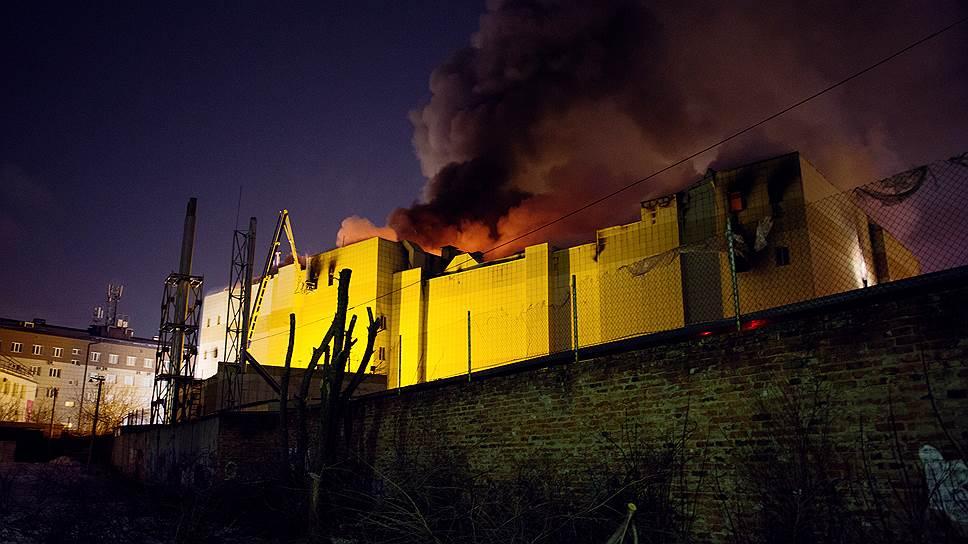 ТРЦ загорелся с кинотеатра