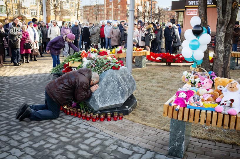 Акция памяти в Кемерово на годовщину пожара в «Зимней вишне»