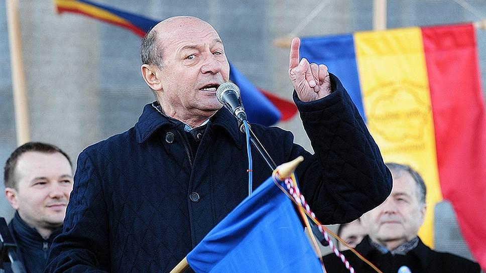 Бывший президент Румынии Траян Бэсеску на «Марше столетия» в Кишиневе