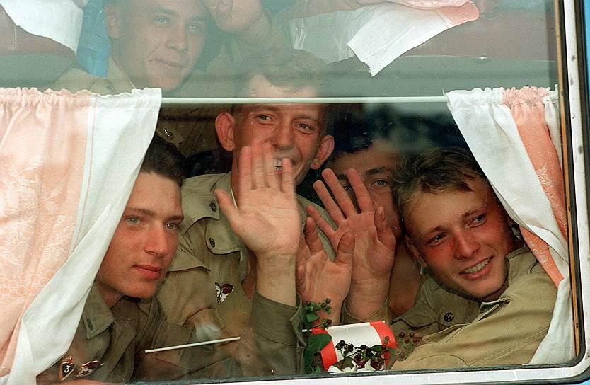 Российские военнослужащие покидают Берлин