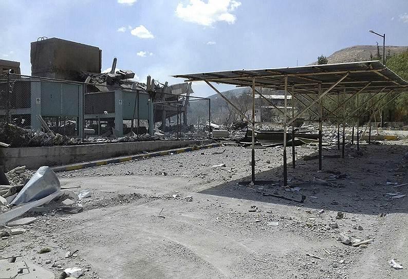 Всего по территории Сирии было выпущено более 100 ракет