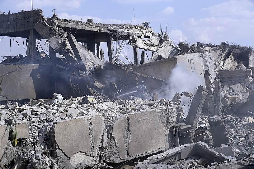 Последствия атаки на научно-исследовательский центр