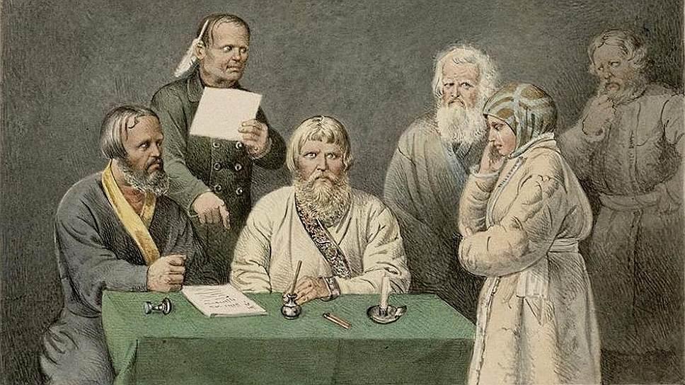 Несмотря на императорский указ, волостные суды продолжали наказывать провинившихся женщин розгами