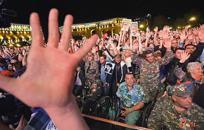 Митинг сторонников Никола Пашиняна