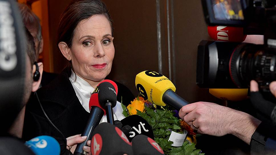 Бывший секретарь Шведской академии Сара Даниус