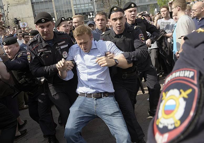 Задержание в Москве Алексея Навального
