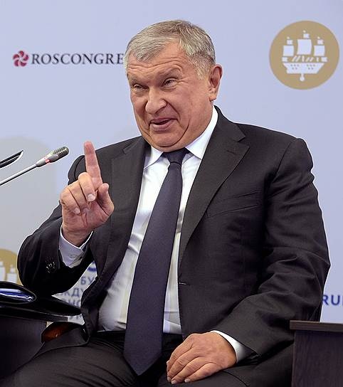 Глава «Роснефти» Игорь Сечин на дискуссионной площадке «Энергетическая панель»