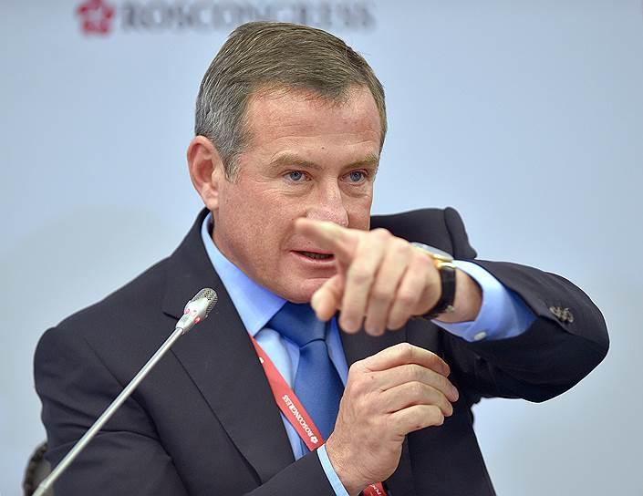 Председатель совета директоров «Группа компаний ЕСН» Григорий Березкин во время сессии «Технологический прорыв и пространственное развитие страны»