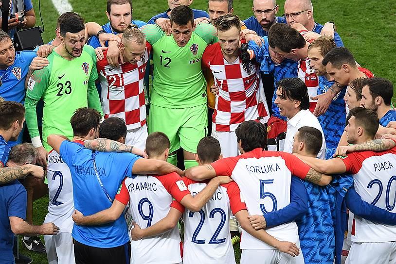 Игроки сборной Хорватии после матча