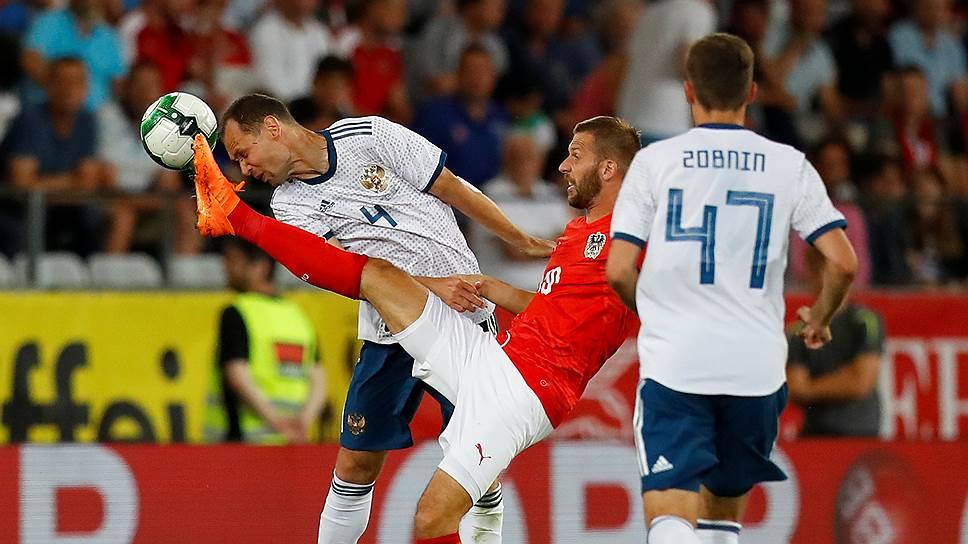 Как россияне проиграли последний товарищеский матч со сборной Австрии