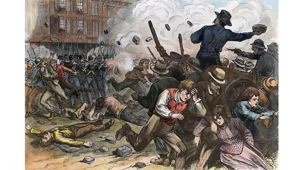 Забастовки иногда приводили к прямому столкновению с властями