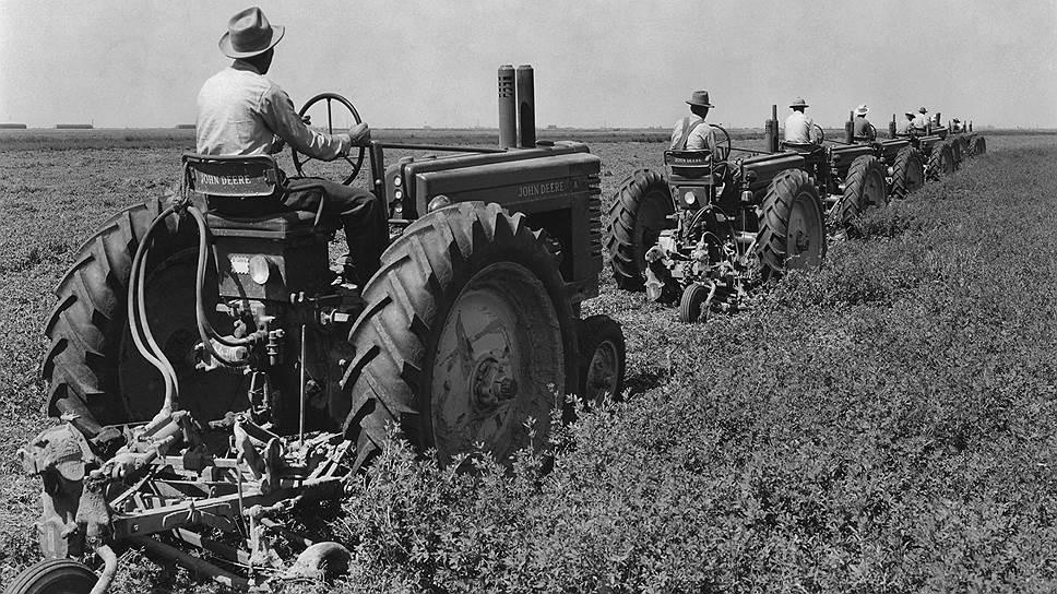 Механизация сельского хозяйства вытесняла лишние рабочие руки в города