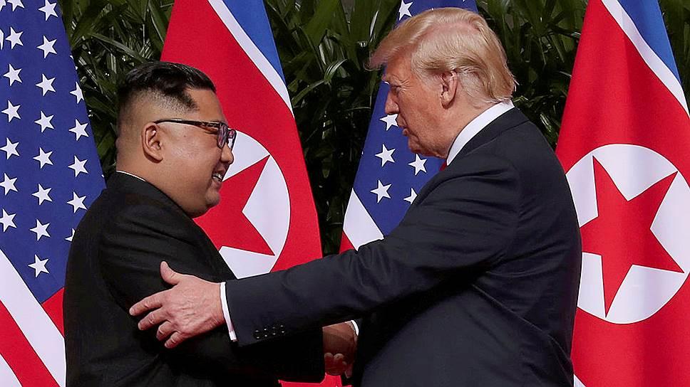 Как Дональд Трамп и Ким Чен Ын провели первые переговоры