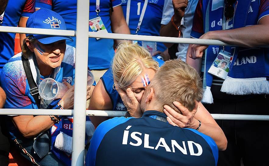 Главный тренер сборной Исландии Хеймир Халльгримссон после игры со сборной Аргентины