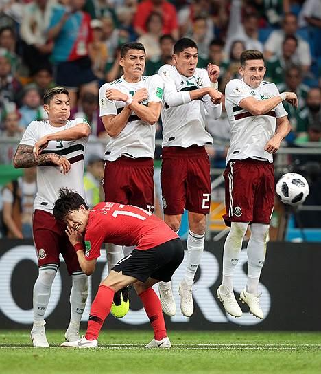 Матч между сборными Южной Кореи и Мексики на стадионе «Ростов Арена»