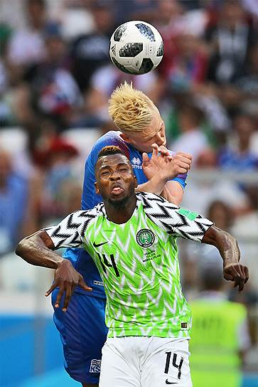 Матч между сборными Нигерии и Исландии на стадионе «Волгоград Арена»