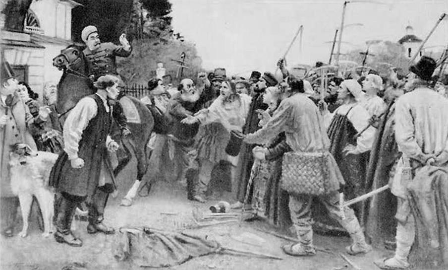 Русские крестьяне бунтовали против посадок картофеля