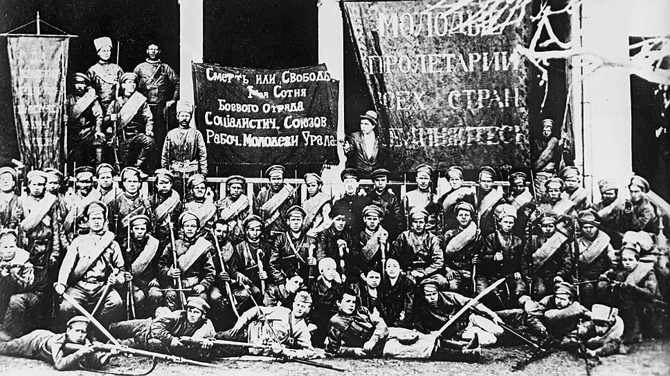 На подавление восстания в Ярославле направлялись военные формирования со всей страны (на фото — боевой отряд социалистических союзов молодежи Урала)