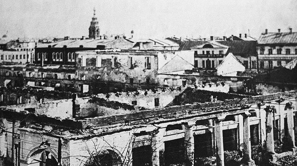 Гостиный двор в Ярославле пострадал как от обстрела, так и от пожара