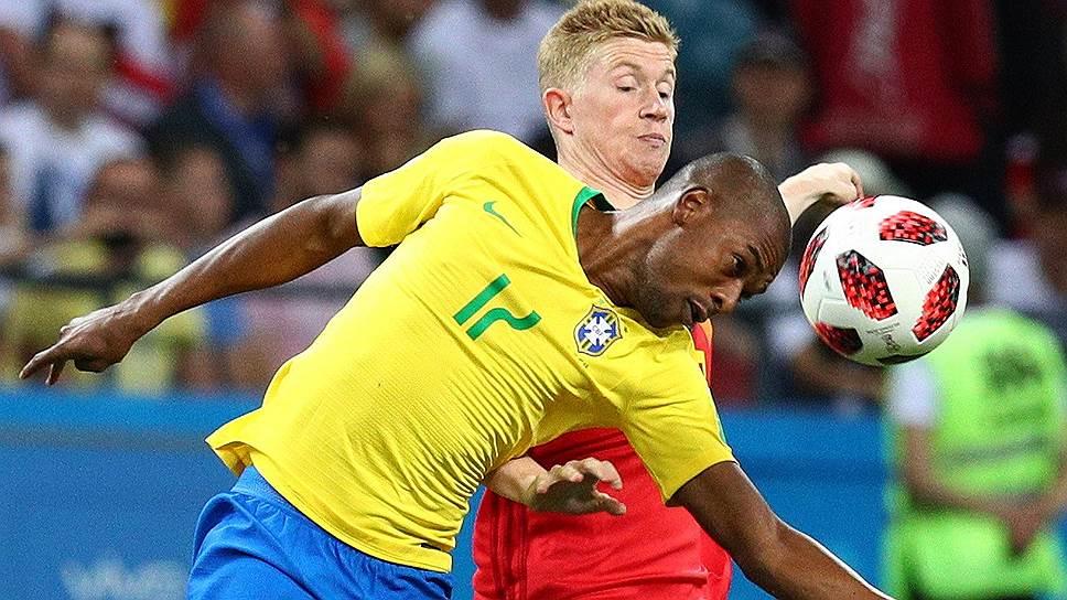 Игрок сборной Бразилии Фернандиньо