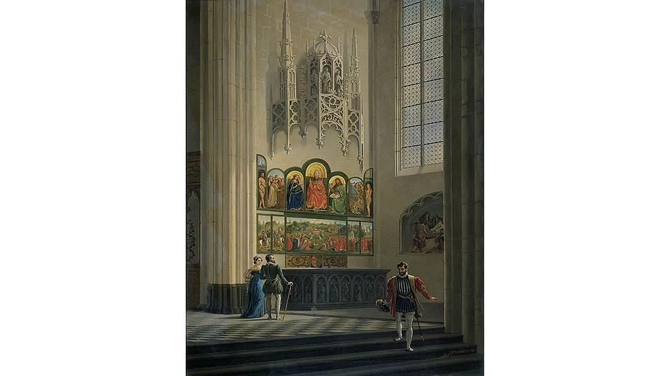 Гентский алтарь всегда был предметом восхищения прихожан и вдохновения художников