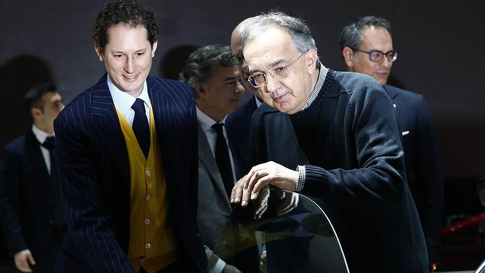 Председатель совета директоров Fiat Chrysler Джон Элкан (слева) и Серджо Маркьонне