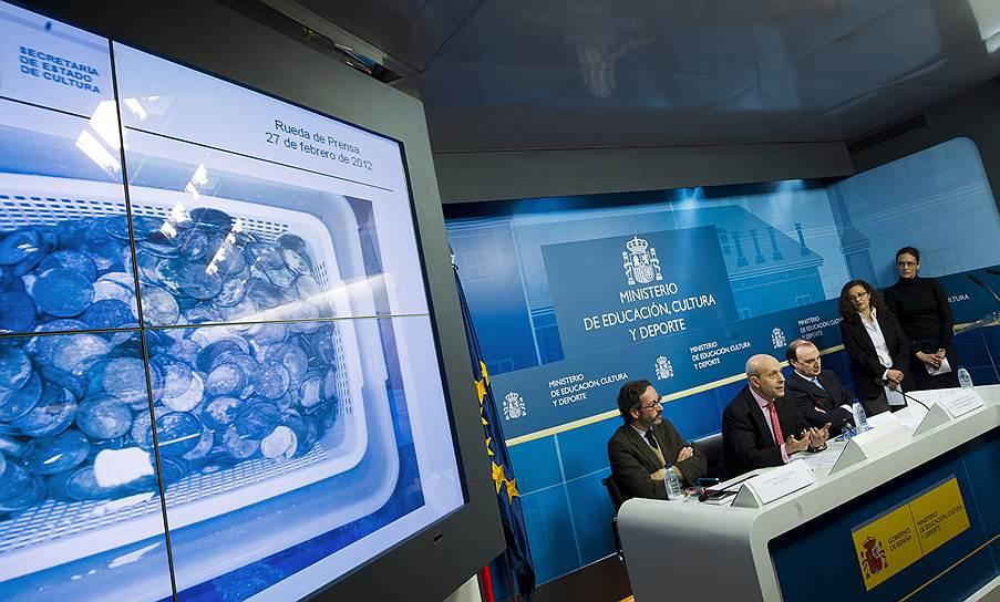 У испанских властей возникло много вопросов к американской компании «Одиссей», поднимавшей сокровища с затонувшего галеона