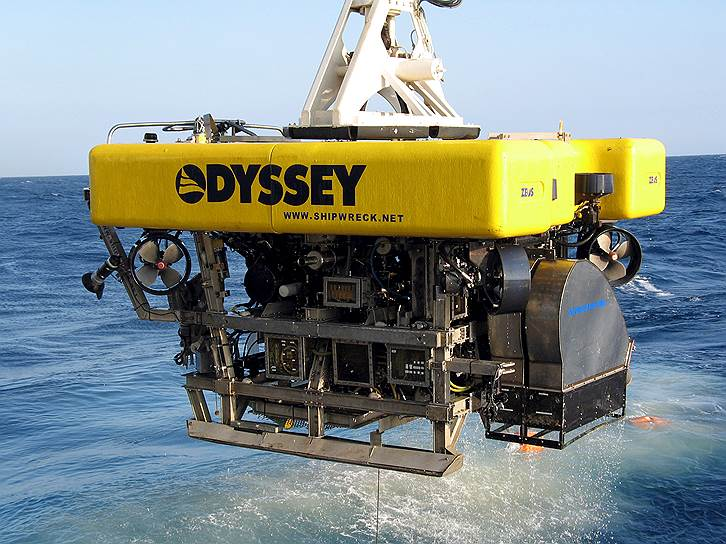 «Одиссей» имеет лучшее оборудование для поиска и подъема сокровищ с затонувших кораблей