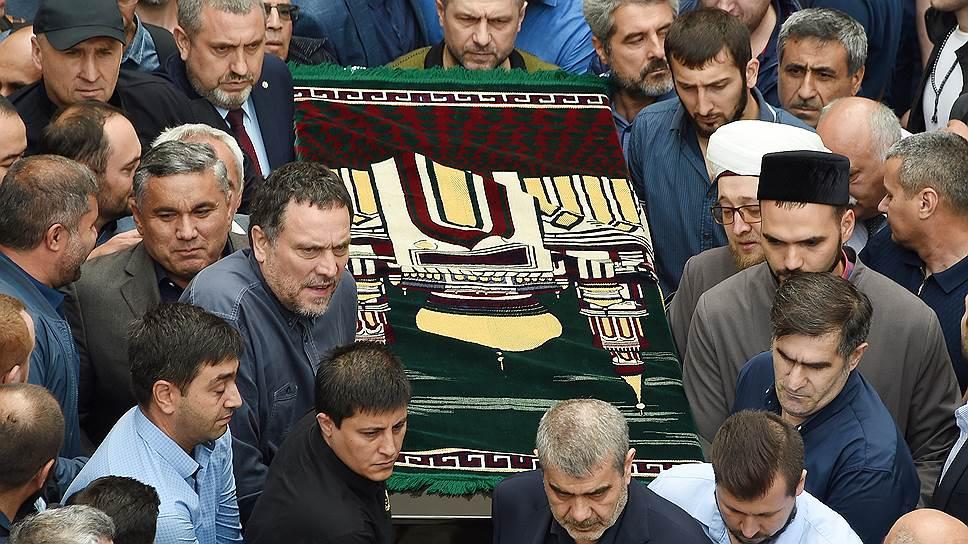 Церемония прощания с убитыми в ЦАР россиянами