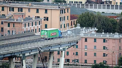 В итальянской Генуе обрушился мост