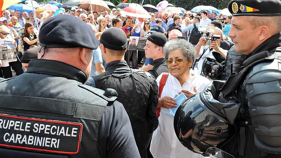 Как в Кишиневе прошли антиправительственные акции