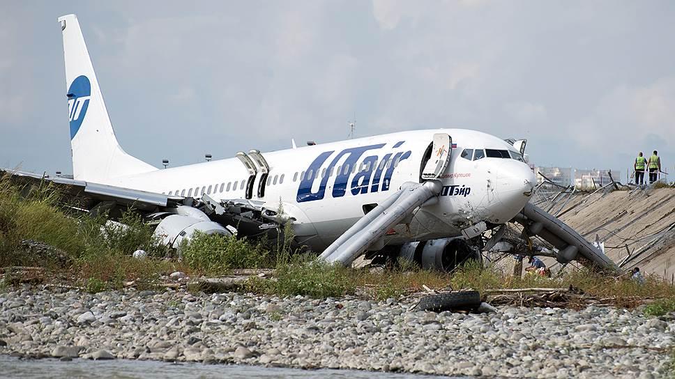 Как Boeing 737 авиакомпании Utair не хватило полосы