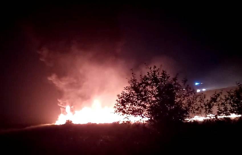 Самолет получил сильные повреждения, но пожар на борту удалось потушить
