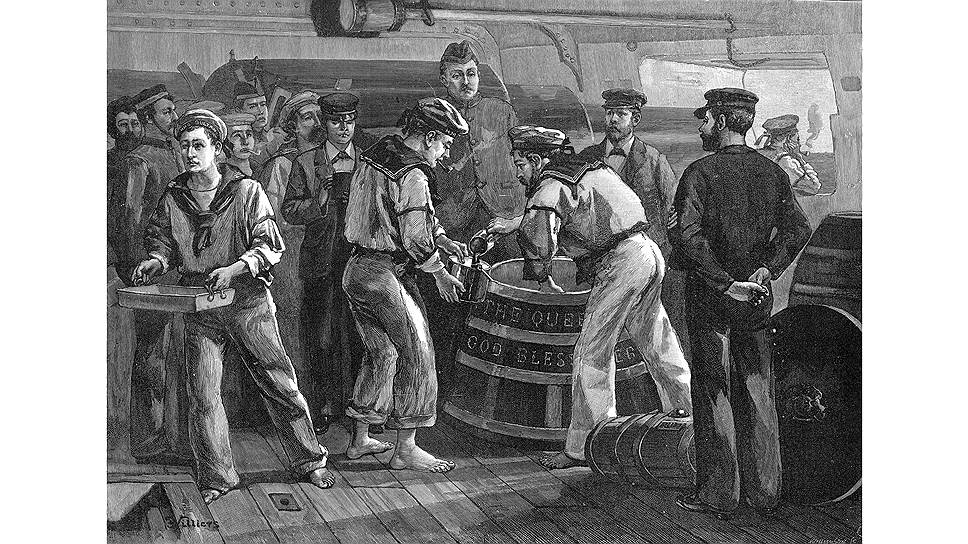 В Британии моряки с энтузиазмом делали из рома грог