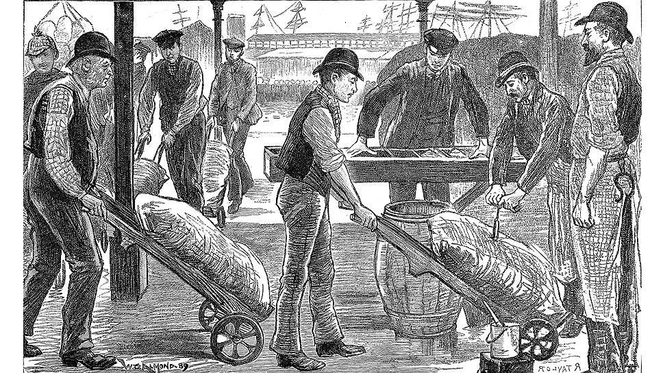 Лондонские докеры неплохо зарабатывали на выгрузке сахара из Вест-Индии