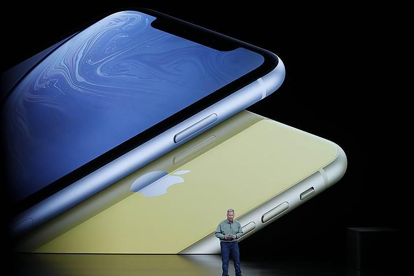 iPhone Xr  стал самой бюджетной новинкой от Apple — $749 или 64 990 руб. Диагональ экрана — 6,1 дюйм, процессор — A12 Bionic, камера 12MP. Смартфон несовместим с существующими сим-картами. Для него подойдут nano-SIM и eSIM