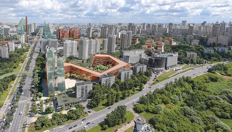 Проспект Вернадского. Победитель: Bofill Arquitectura, S.L., ООО «Мастерс план»