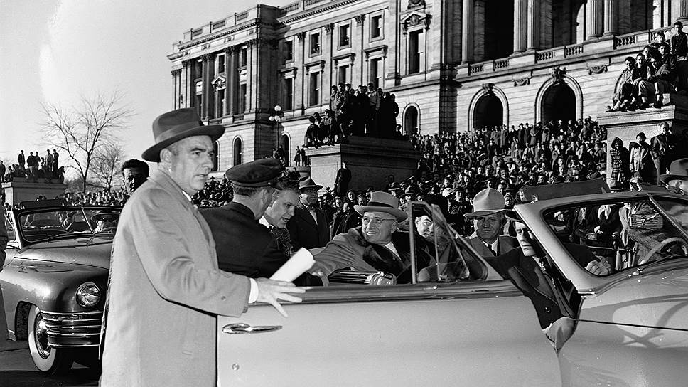 Президент США Гарри Трумэн два раза останавливал все движение в Вашингтоне
