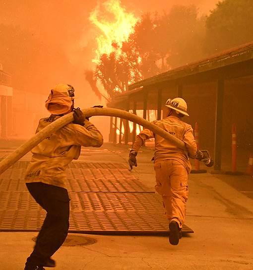 Более 400 пожарных задействованы в борьбе с пламенем