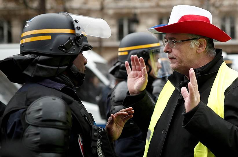 По данным Министерства внутренних дел, по всей Франции протестуют более 80 тыс. человек. Неделю назад в аналогичной акции участвовали 124 тыс. человек. 24 ноября в Париже в протесте участвовали 8 тыс. человек, из них 5 тыс.— на Елисейских полях