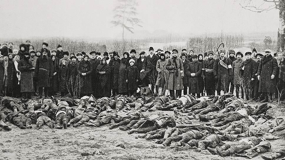 После отступления красных из Везенберга (Раквере) фотографии их злодеяний облетели европейскую прессу