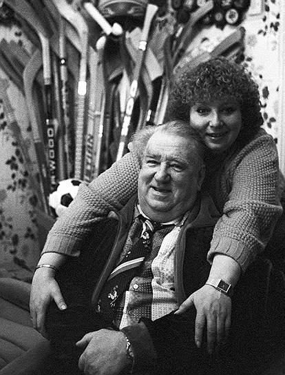 Анатолий Тарасов вместе со своей дочерью, тренером по фигурному катанию Татьяной Тарасовой