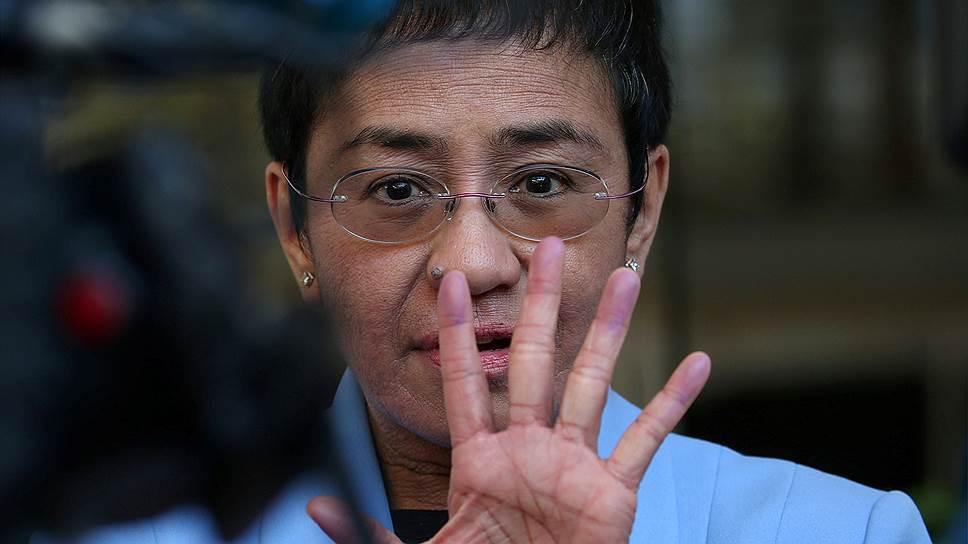 Филиппинская журналистка Мария Ресса