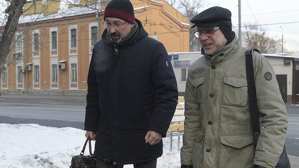 Бывший директор «Гоголь-центра» Алексей Малобродский (справа)