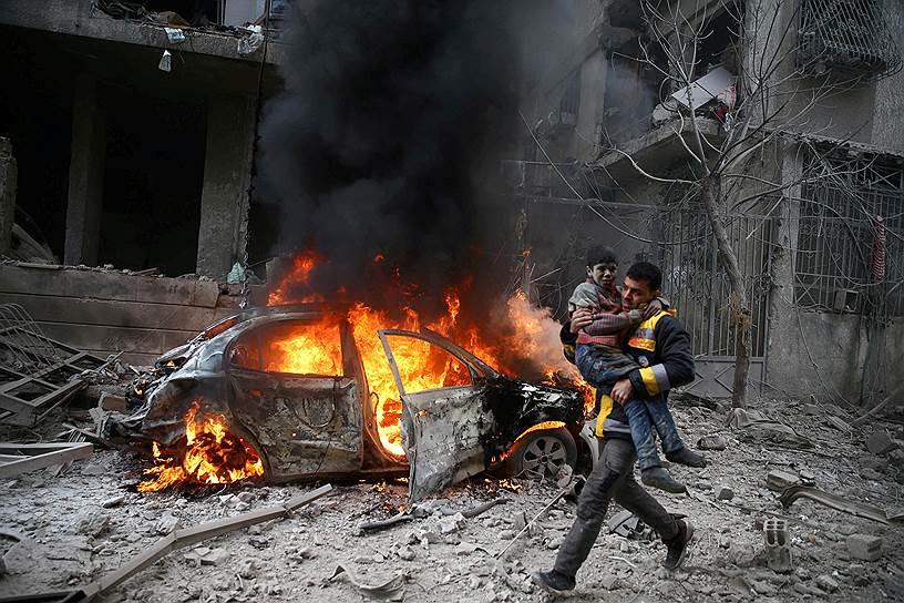 С 18 февраля по 14 апреля продолжались бои в Восточной Гуте, победу в которых одержали правительственные силы. Это первая зона деэскалации, которая вернулась под контроль Дамаска
