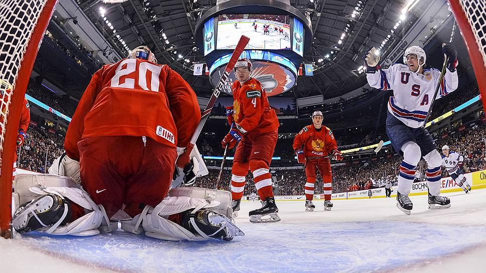 Российская хоккейная молодежка на чемпионате мира проиграла американцам