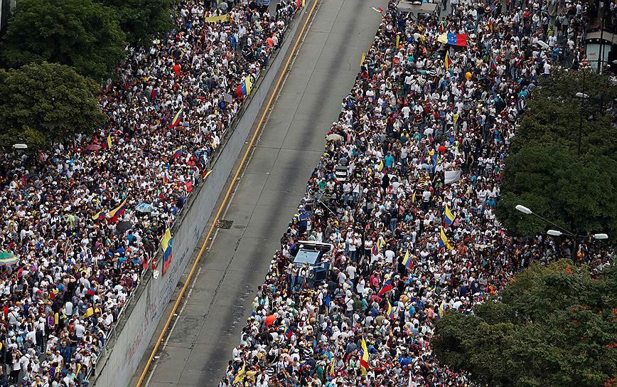 Президент США Дональд Трамп признал господина Гуаидо президентом Венесуэлы