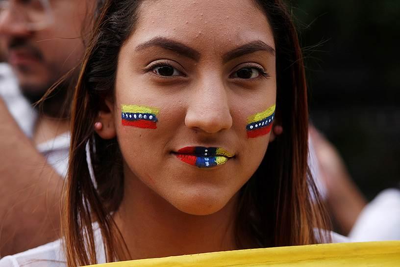 Акции в поддержку Хуана Гуаидо проходят не только в Венесуэле (на фото — митинг в Буэнос-Айресе)
