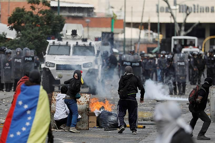В ходе протестов в Венесуэле за три дня были арестованы более 200 человек