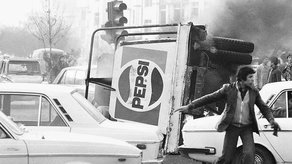 С самого начала волнений в Иране «западные ценности» стали мишенью демонстрантов. Декабрь 1978 года